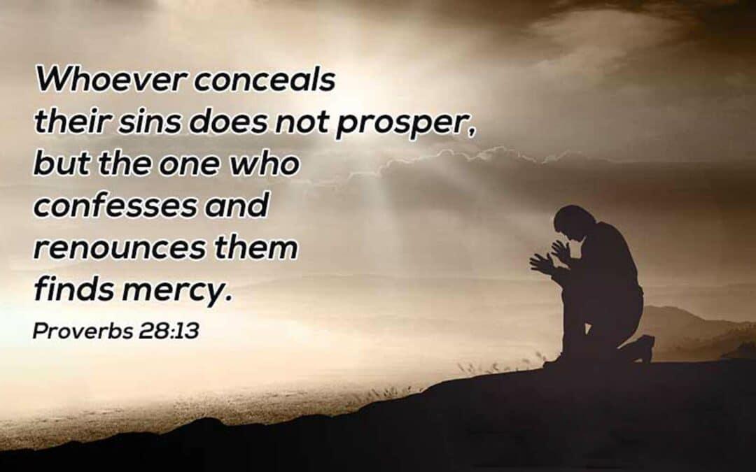 Repentance Must Include Proper Confession