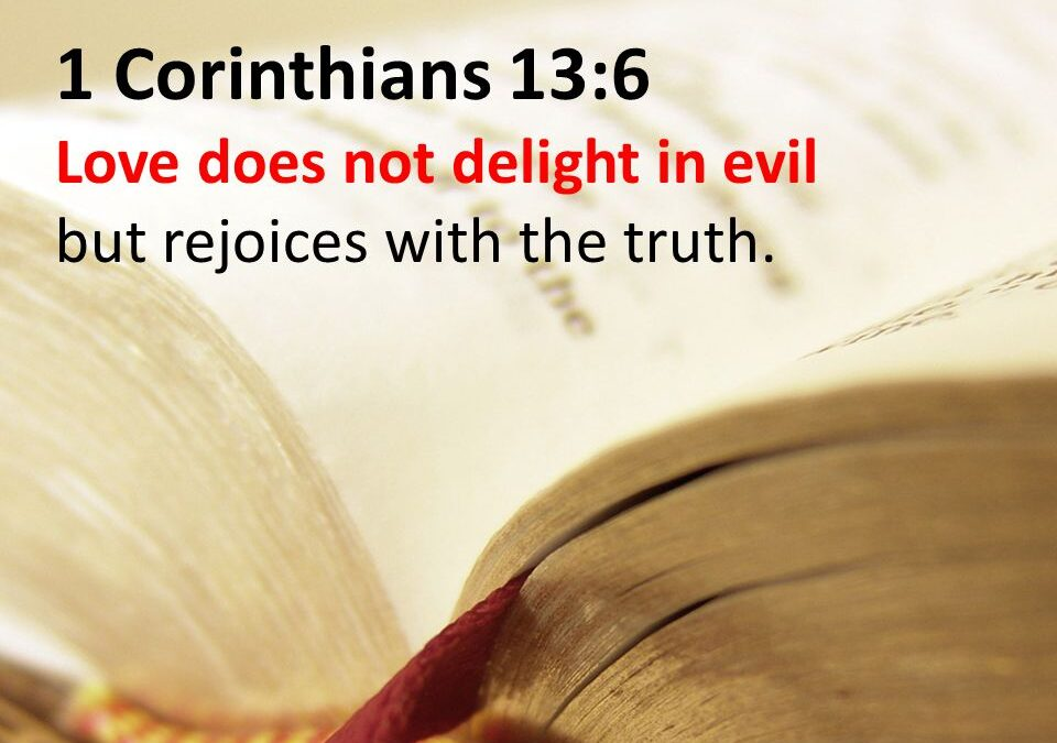How One Can Be Tempted to Rejoice Over Evil Being Done